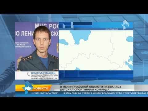 В Ленинградской области микроавтобус с воспитанниками детдома попал в ДТП