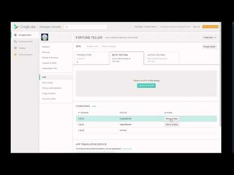 Google Play Developer Console, Beta Testing & Staged Rollouts