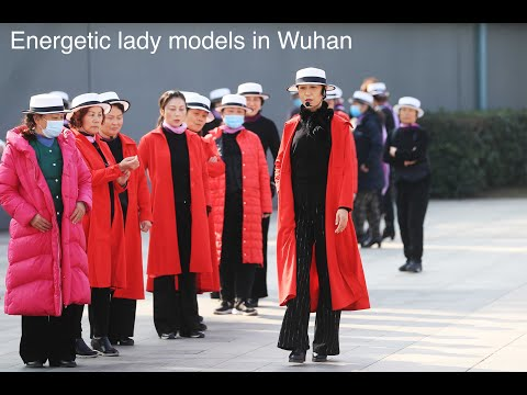 Wuhan's lively lady models