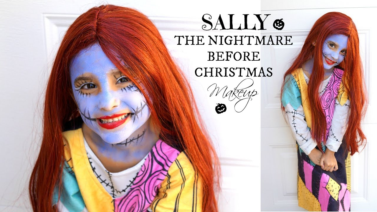 sally nightmare before christmas makeup kids - Sally Nightmare Before Christmas Wig