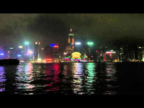 Night time in Kowloon bay, Hong Kong