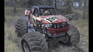 Spintires mud runners bigfoot monster truck #TeamScrunt