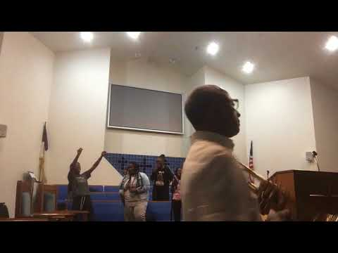 I Will Bless The Lord Phillips Temple Youth Choir with Gospel Trumpet REHEARSAL