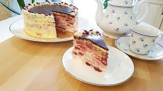 Изумительный тортик Орех-Вишня для уютного семейного чаепития/ Рецепты Джулии