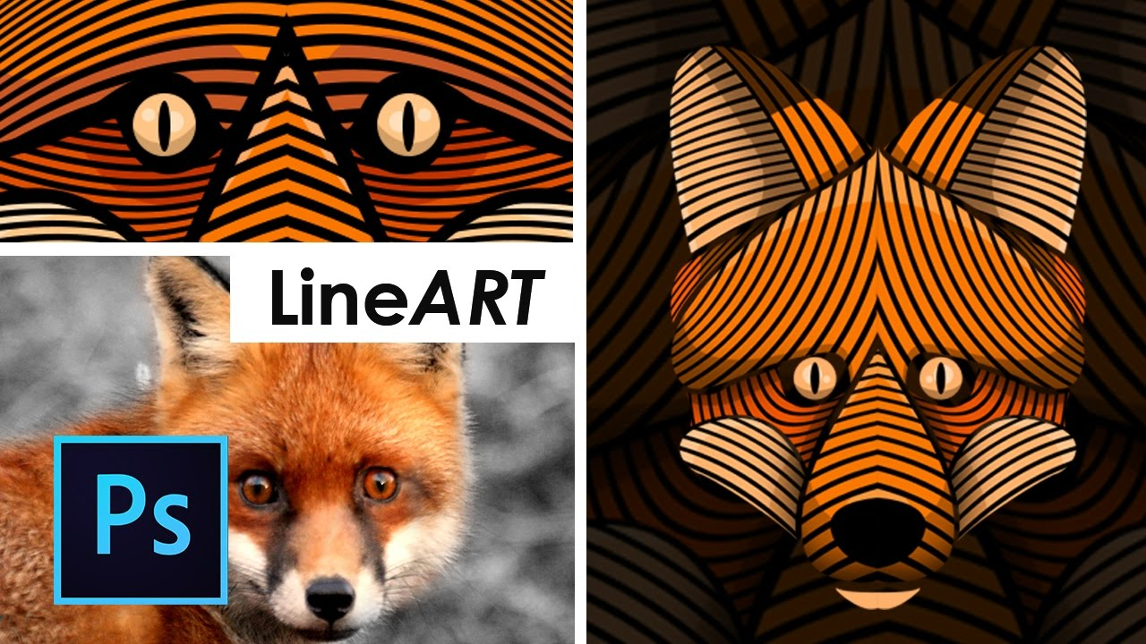 Line Art Wajah : Part cara desain lineart vector wajah photoshop tutorial