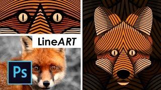 PART 1 - Cara Desain LineArt Vector wajah Photoshop - Tutorial photoshop bahasa indonesia