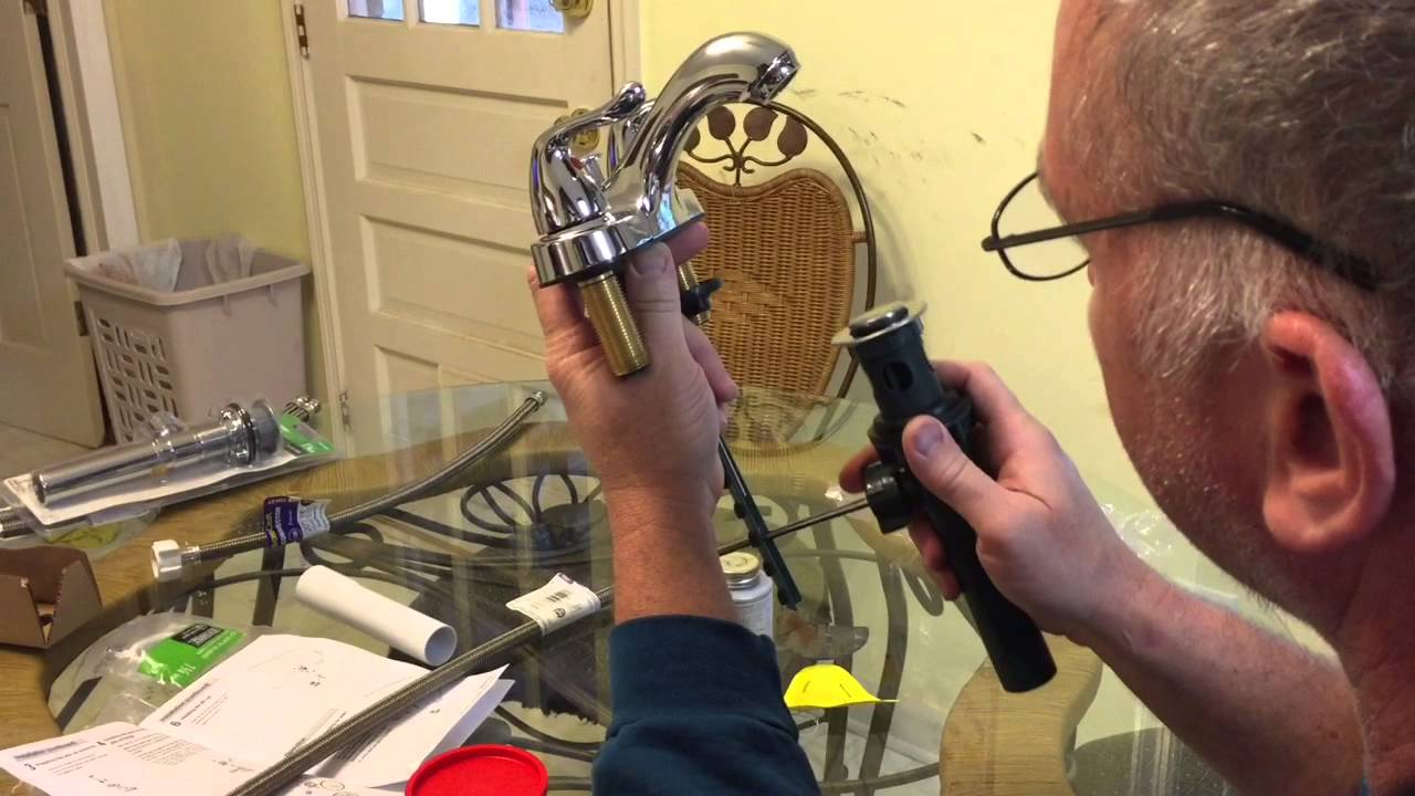 How to Replace a Bathroom Faucet and Drain - YouTube