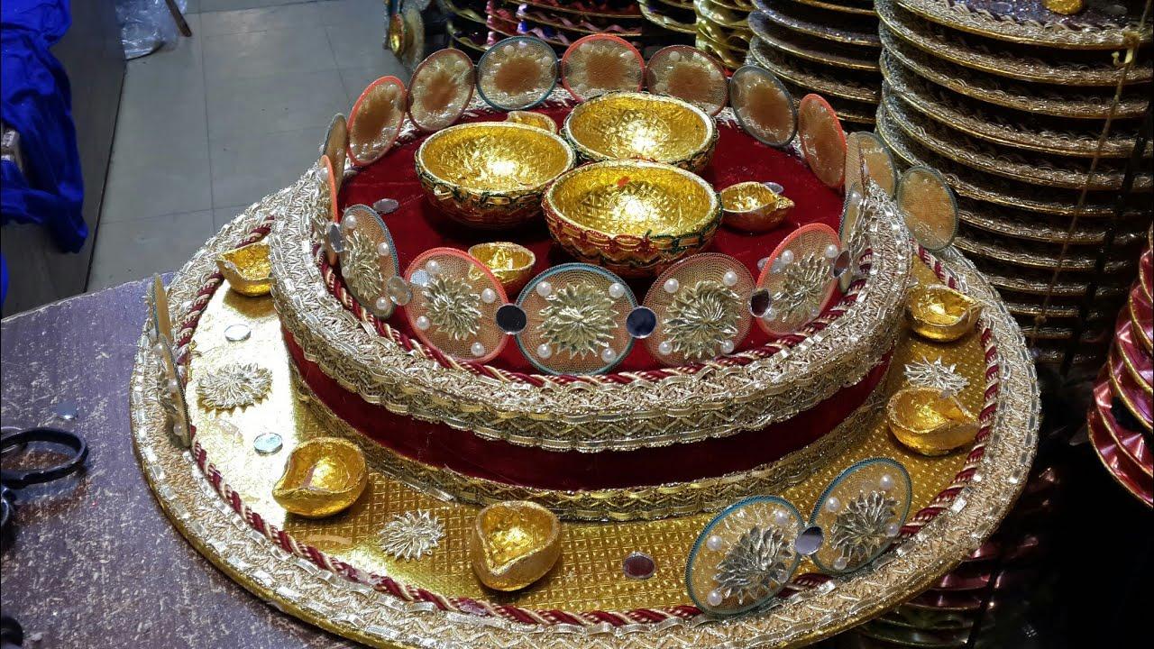 New design mehndi thaal mehndi setup mahndi pleat wedding tray