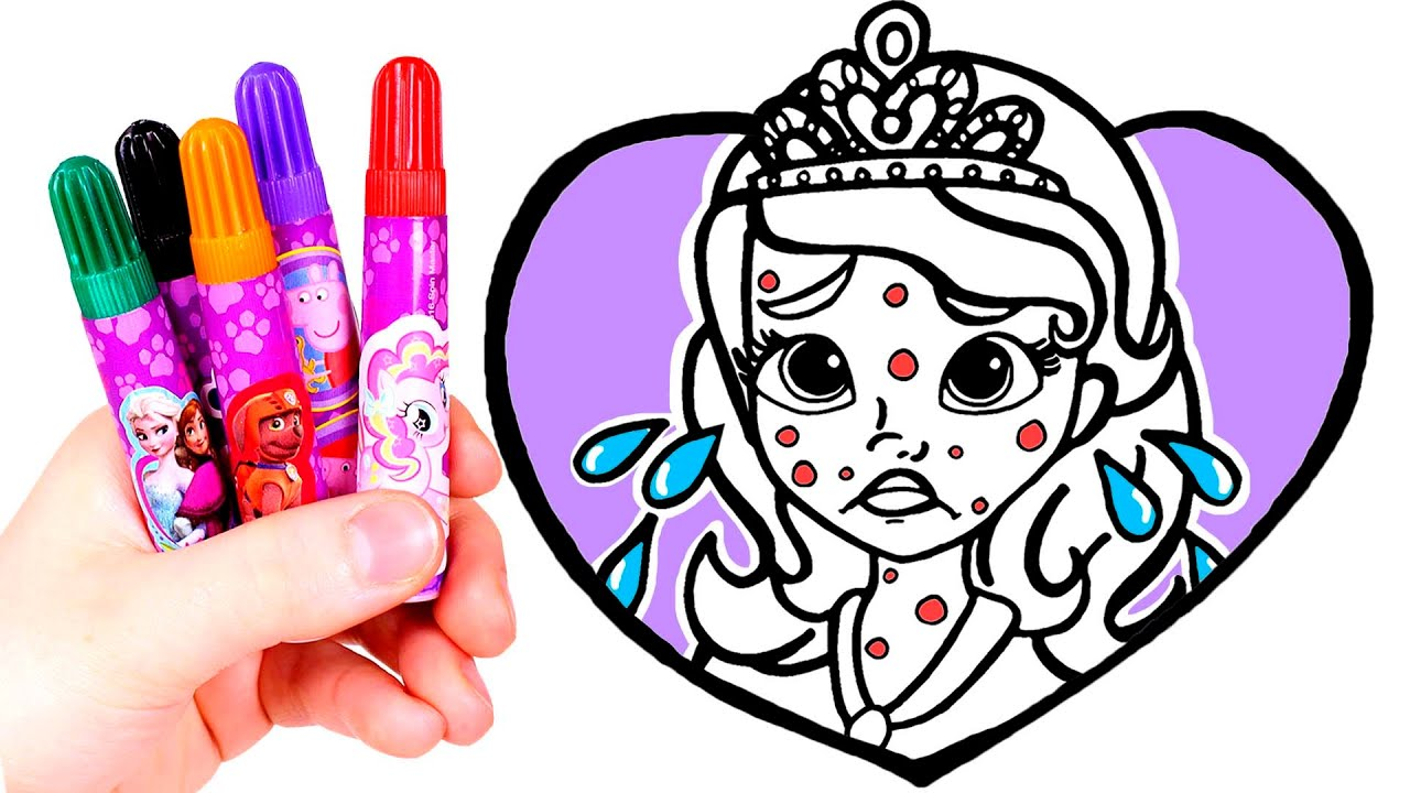 Dibuja Y Colorea A La Princesa Sofia Enfermita Videos Para