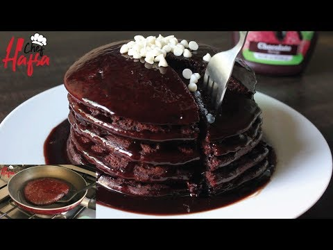 Eggless Chocolate Pancake | Chocolate Pancakes | Breakfast Recipe