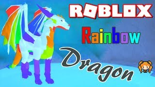 ROBLOX DRAGON'S LIFE RAINBOW DRAGON and Baby Rainbows