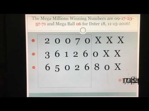 Mega Millions Winning Strategy! Dster hits for Mega Millions Episode 1!