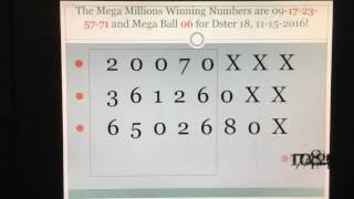 Mega Millions Winning Strategy! Dster hits for Mega Millions Episode 1!