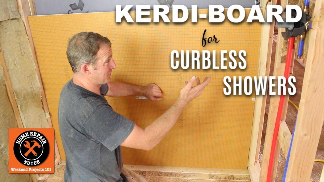 Kerdi Board Installation Schluter Curbless Shower Part 2