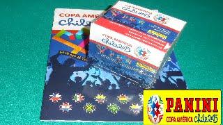 UNBOXING CAJA DE SOBRES DEL ALBUM PANINI COPA AMERICA CHILE 2015