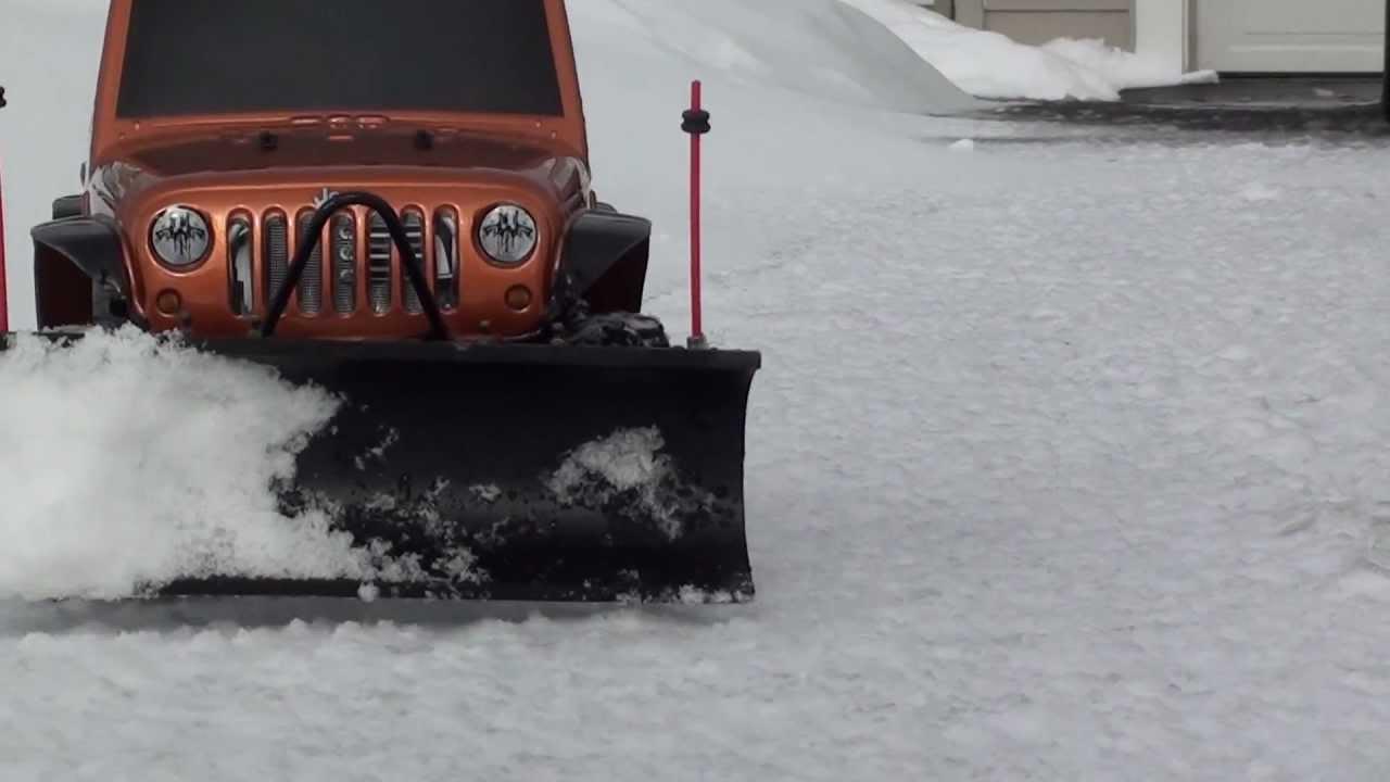 Jeep Wrangler   SCX10 Snow Plow   YouTube