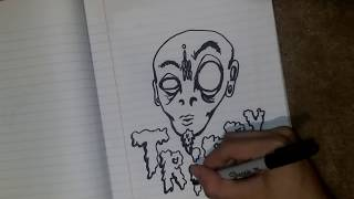 trippy art drawing lesson