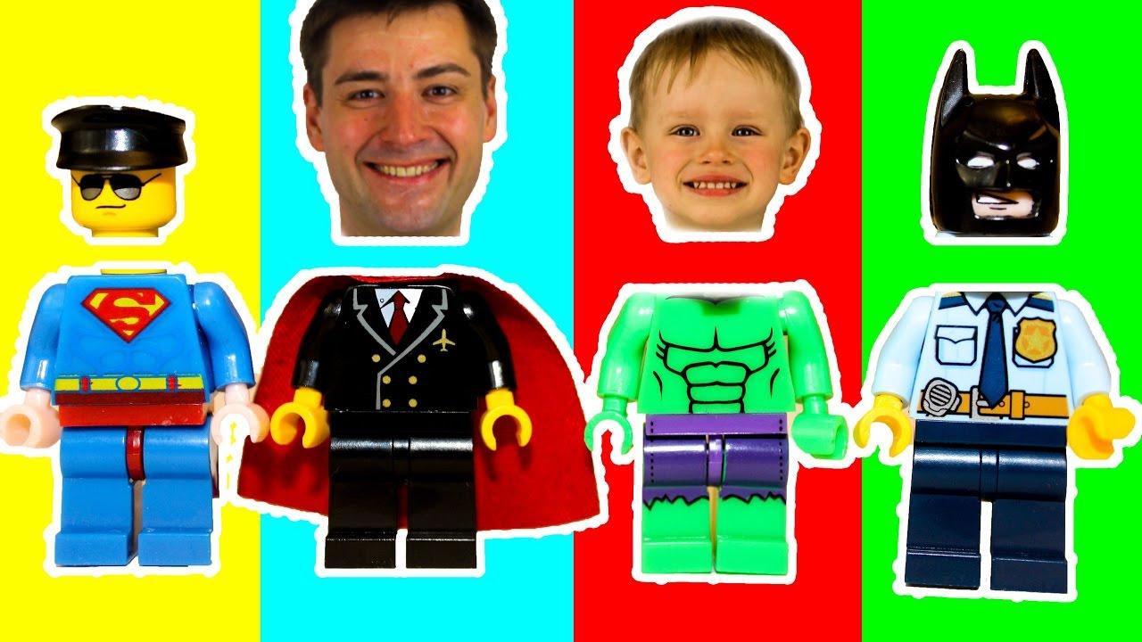 Wrong Heads - LEGO Avengers Superheroes Супергерои Неправильные головы Превращение в супергероя