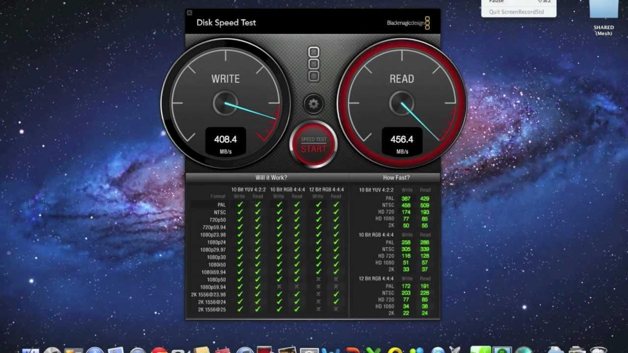 SSD Speed Test: MacBook Pro 15