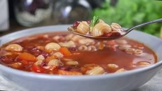 Как приготовить тосканский суп из красной фасоли с пастой | Простой рецепт