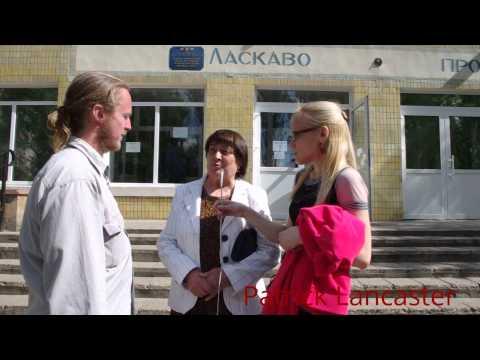 Donetsk, Ukraine Interview Outside a polling station of the Referendum #4