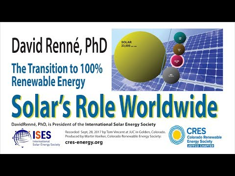 Solar's Role Worldwide - Transitioning to 100% Renewables - David Renné, PhD