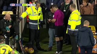 A Norwich fan replaces the referee (Football/soccer)