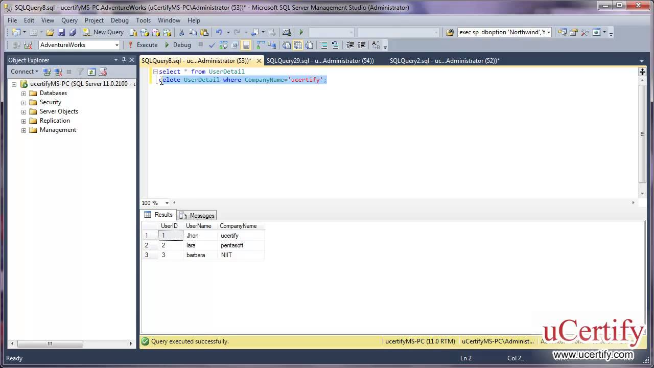 Ms sql server 2012 how to delete table records demo youtube ms sql server 2012 how to delete table records demo sciox Choice Image