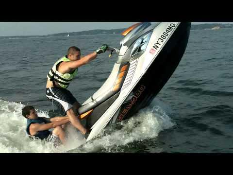 Jet ski wheelie seadoo