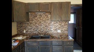 Peel and stick tile. DIY Kitchen backsplash.
