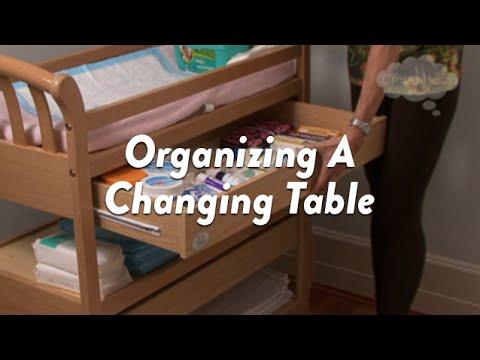 Organizing A Changing Table   CloudMom   YouTube