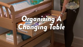 Organizing A Changing Table CloudMom