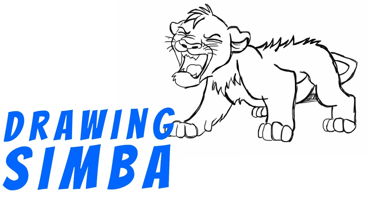 Uncategorized How To Draw Simba And Nala how to draw simba youtube simba