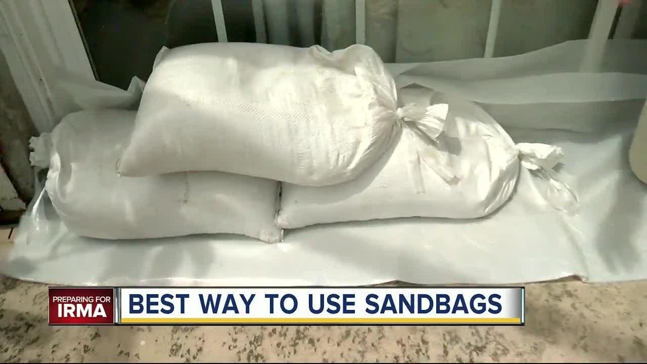 Best Ways To Use Sandbags Ahead Of Hurricane Irma Youtube