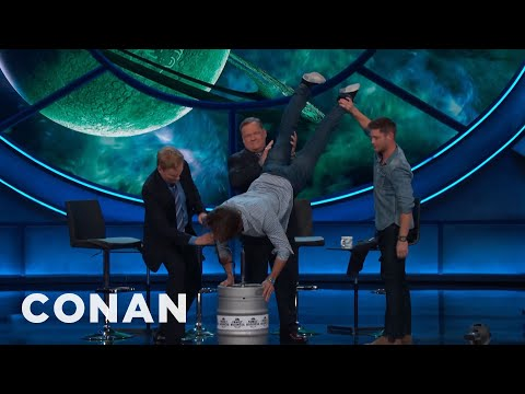 Jared Padalecki's Birthday Keg Stand   CONAN on TBS