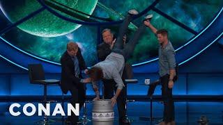 Jared Padalecki's Birthday Keg Stand  - CONAN on TBS by : Team Coco