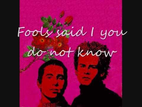Simon & Garfunkel Sound Of Silence Lyrics