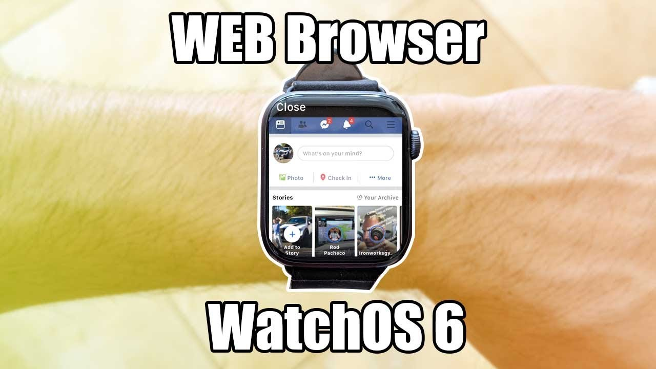 Apple Watch Watchos 6 Launch Internet Browser For Instagram Facebook Google And More Youtube