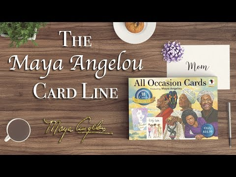 African American Expressions - Maya Angelou Card Line