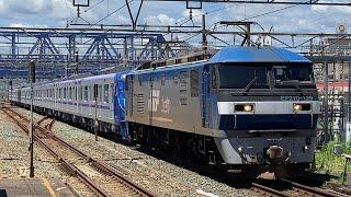 EF210 129号機牽引東京メトロ半蔵門線18000系18103F甲種輸送8862レ豊橋通過