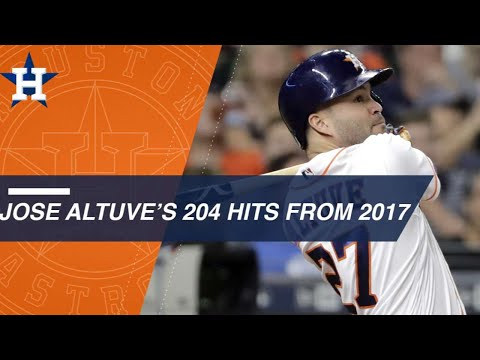 Altuve collects 204 hits in 2017