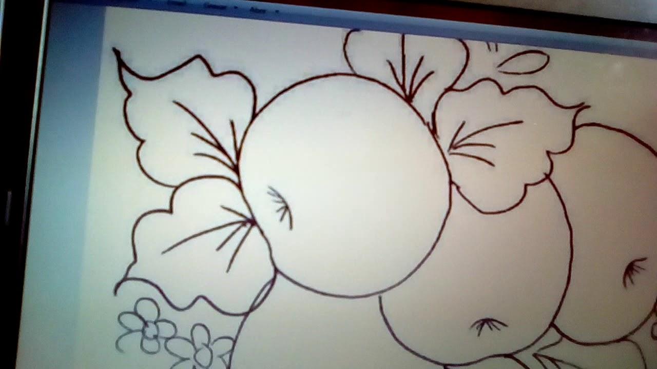 Como Tirar Moldes Risco De Pintura Em Tecido Simples E Rapido