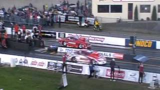Bob Glidden & Bob Benza qualifying at 2010 Toyo Tire Nationals