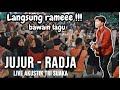 JUJUR - RADJA (LIRIK) LIVE AKUSTIK COVER BY TRI SUAKA - PENDOPO LAWAS