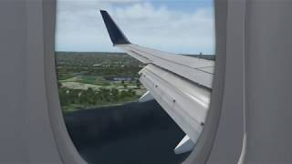 X Plane 11 - Zibo Ultimate Delta Landing at Ronald Reagan - Max Graphics