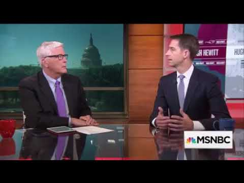 09/16/17 Arkansas Senator Tom Cotton on MSNBC w/Hugh Hewitt