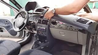 [PL/EN] Renault Clio 2 faza 2 - demontaż górnej części kokpitu