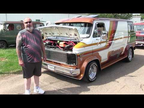 Chevam II. 1978 Chevy Van With Dan Faust.