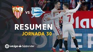 Resumen de Sevilla FC vs Deportivo Alavés (2-0)