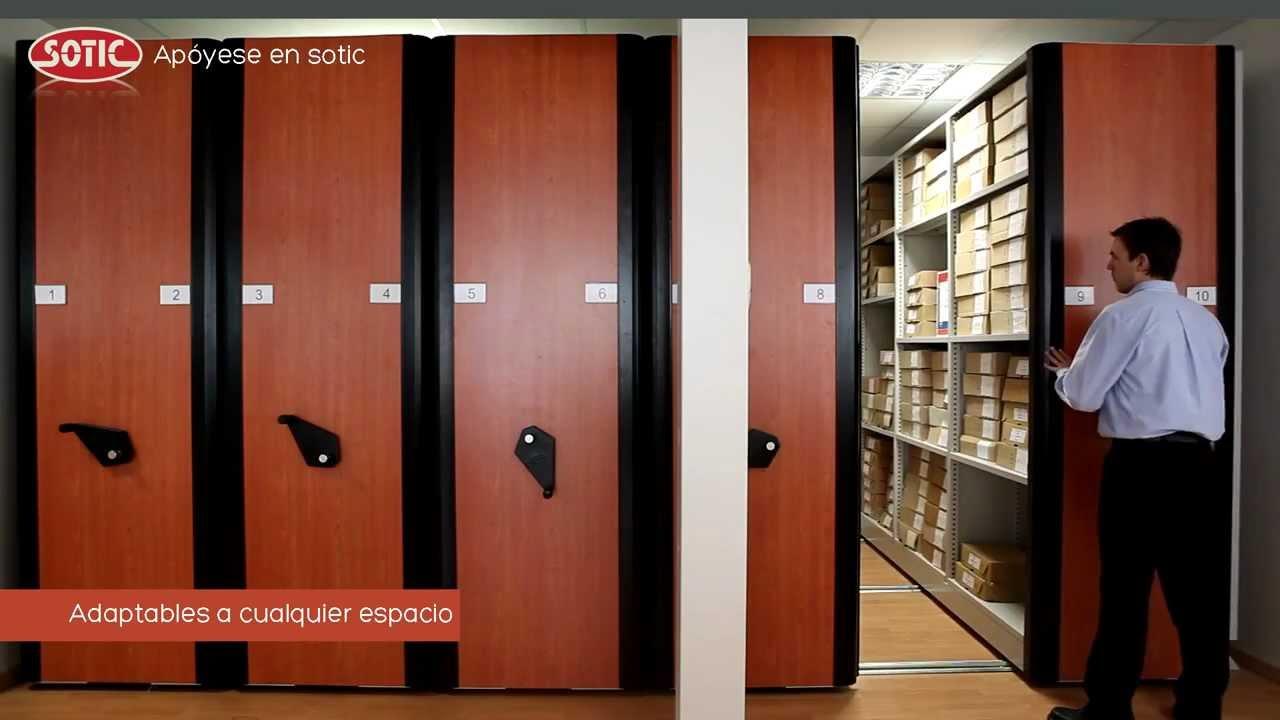 Estanter as m viles archivos deslizantes sotic s a for Archiveros para oficina